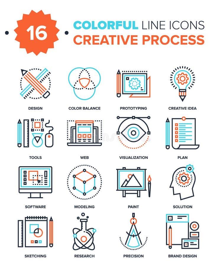 Processo creativo ilustração royalty free