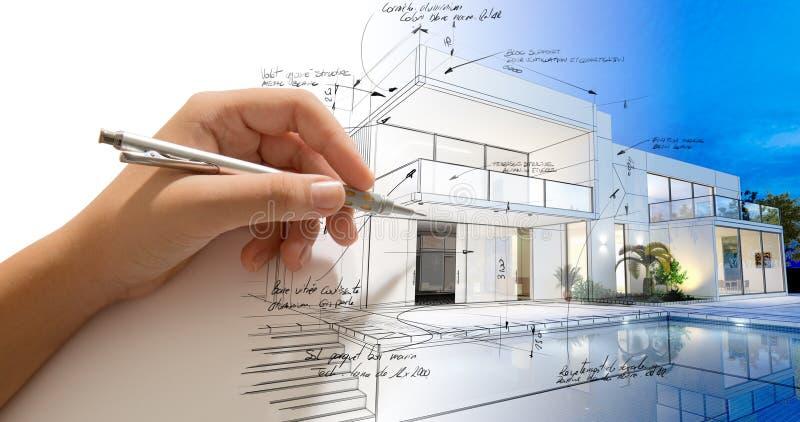 Processo creativo di architettura illustrazione vettoriale