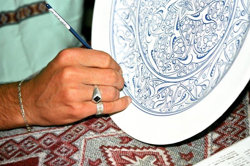 Processo da decoração fotografia de stock royalty free