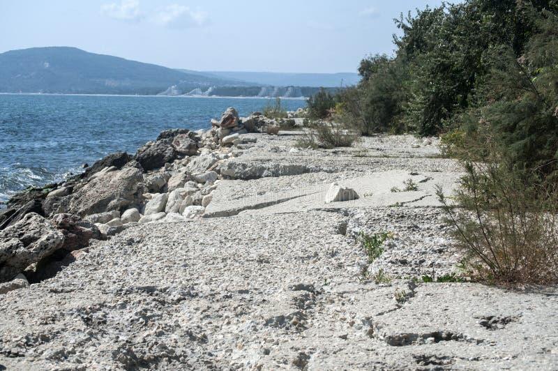 Processo da erosão de água do mar fotos de stock royalty free
