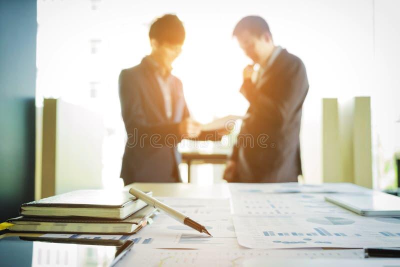 Processo da sessão de reflexão da equipe dos colegas de trabalho Executivos Startup do mee fotografia de stock