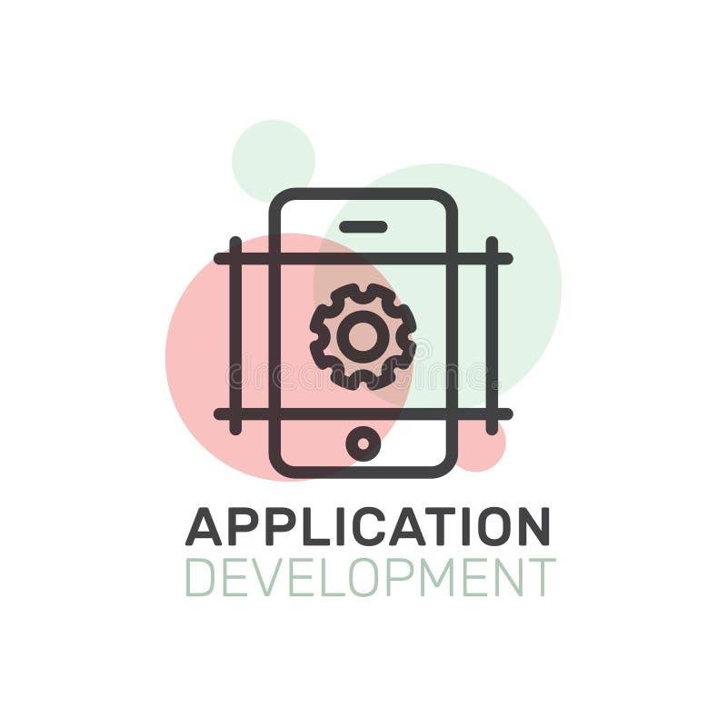 Processo de desenvolvimento de aplicações ilustração stock