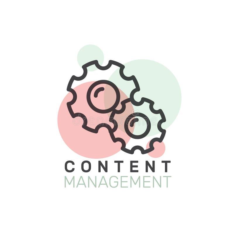 Processo de desenvolvimento dos dados Desempenho satisfeito do CMS e do SEO da gestão ilustração stock