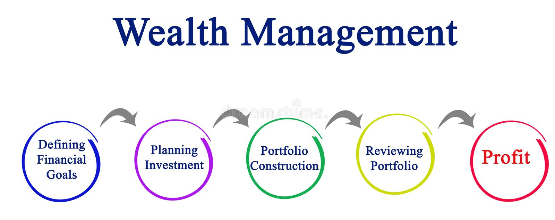 Processo de gestão da riqueza ilustração royalty free