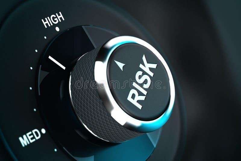 Processo de tomada de decisão, gestão de riscos ilustração do vetor