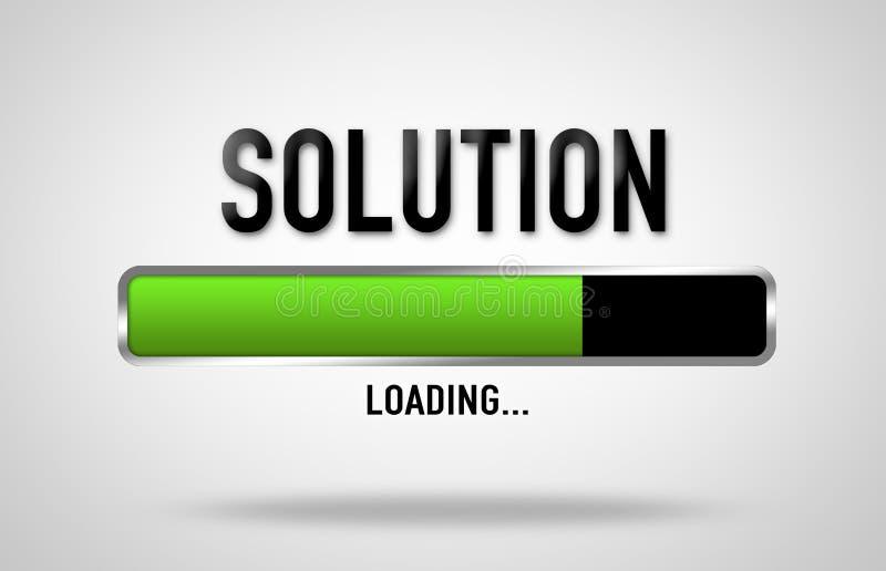 Processo di caricamento della soluzione illustrazione di stock