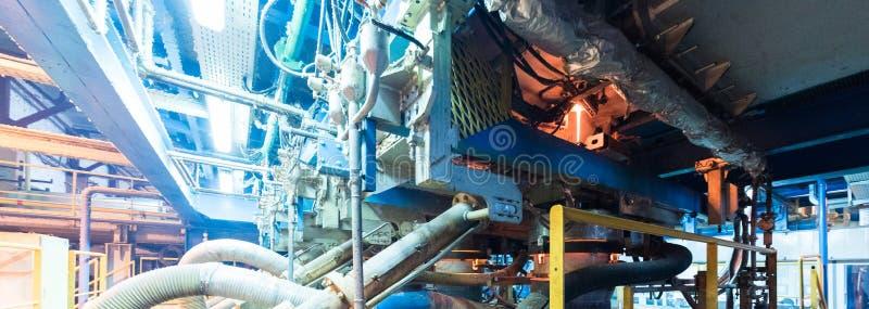 Processo di produzione della vetroresina al fondo di fabbricazione con l'attrezzatura di industria immagine stock libera da diritti