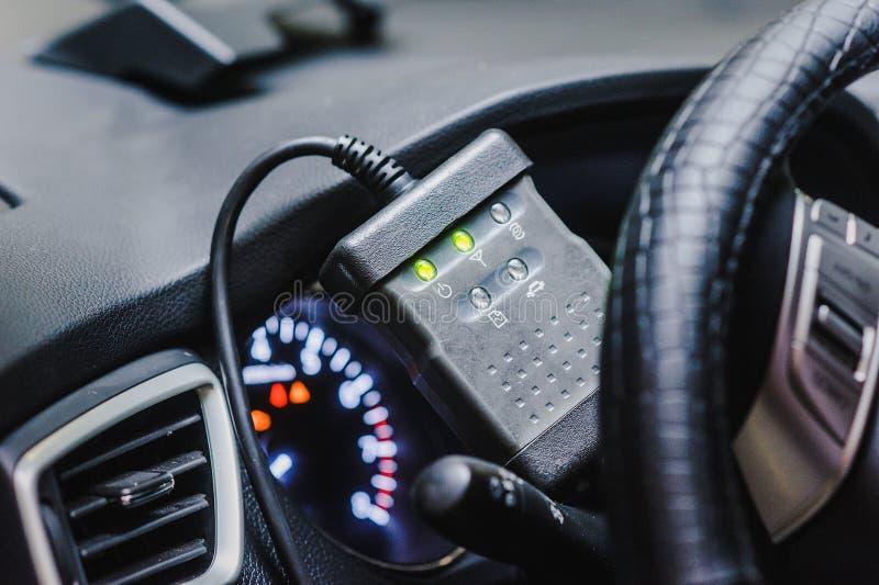 Processo di riparazione dell'auto delle automobili di sistemi diagnostici immagini stock