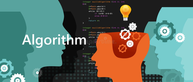 Processo di soluzione dei problemi di scienza di algoritmo del computer con la lampadina e l'ingranaggio di concetto di codice di royalty illustrazione gratis