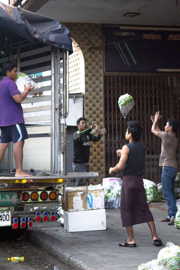 Processo di verdure di distribuzione fotografie stock libere da diritti