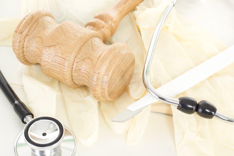Processo legal na lei da saúde fotografia de stock