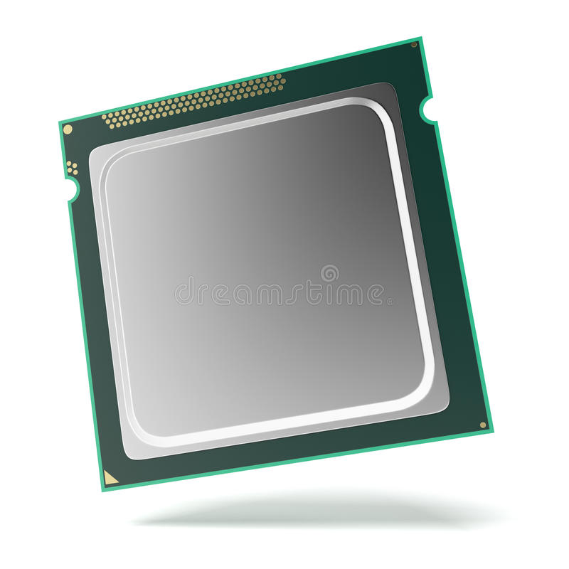 Processor chip. Isolated on a white background royalty free illustration