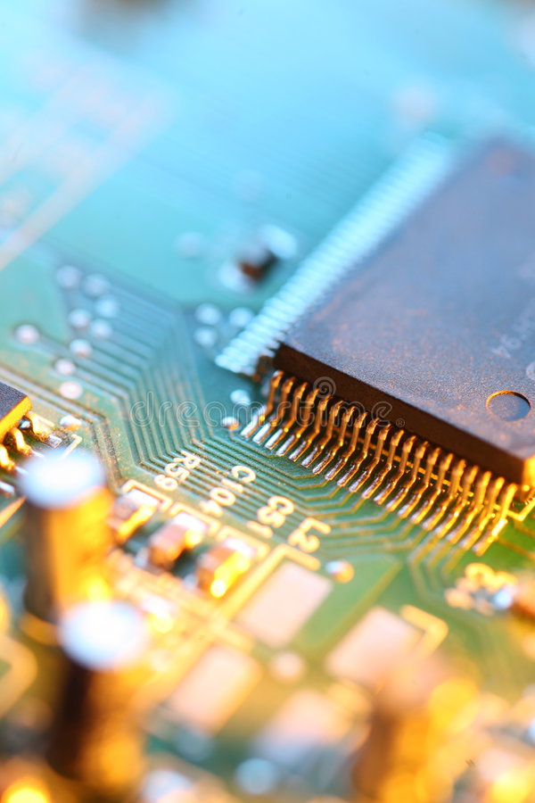 Processor chip stock photography