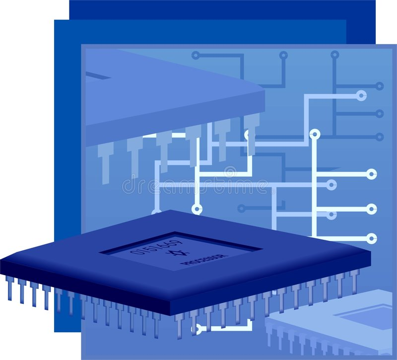 Processor of computer royalty free stock images