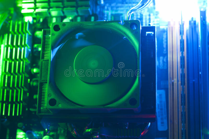 Processor cooler royalty free stock photos