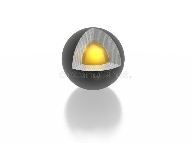 Processor core. (high resolution 3D image vector illustration