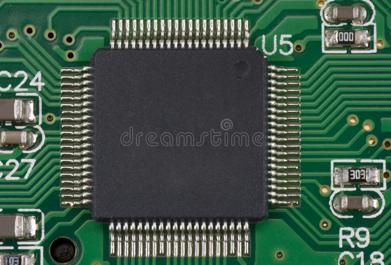 Download Processor On Green Board Royalty Free Stock Photo - Image: 18963955