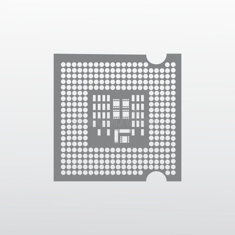 Processor icon illustration. Isolated on white background royalty free illustration