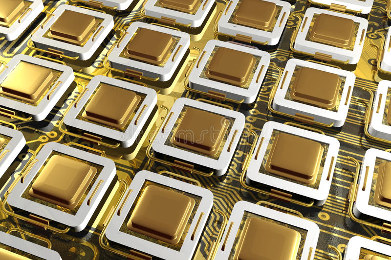 Download Processors stock illustration. Image of contemporaneity - 14838154