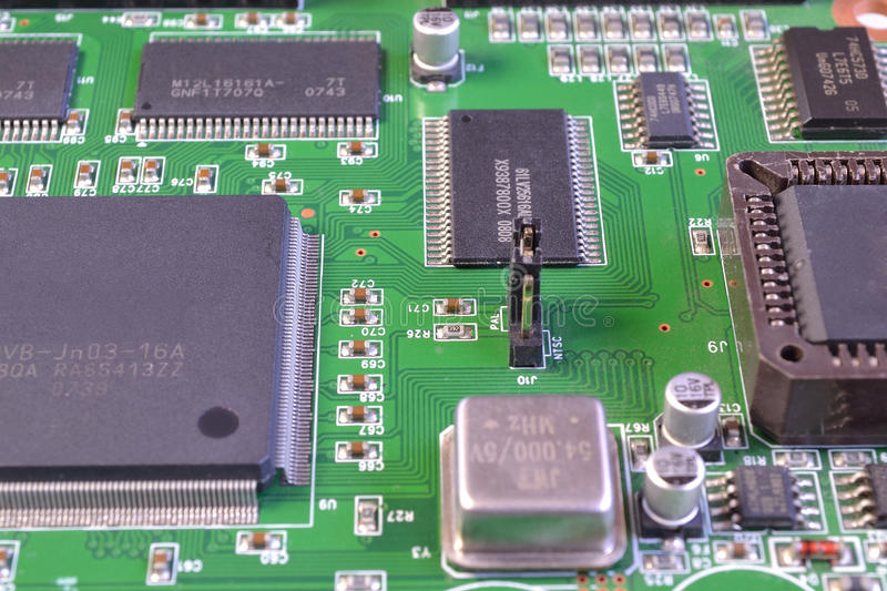 Processors and memory chips stock photos