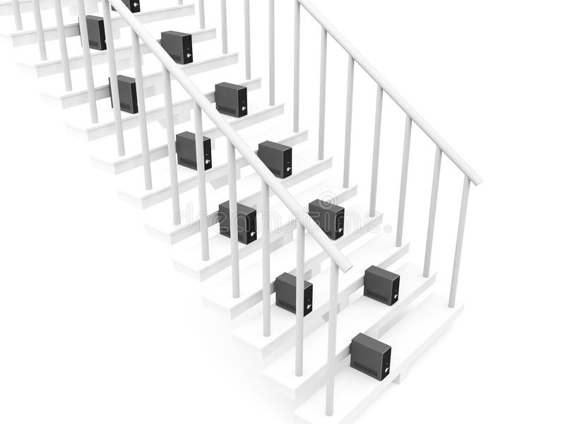 Processors On Stairs Stock Image