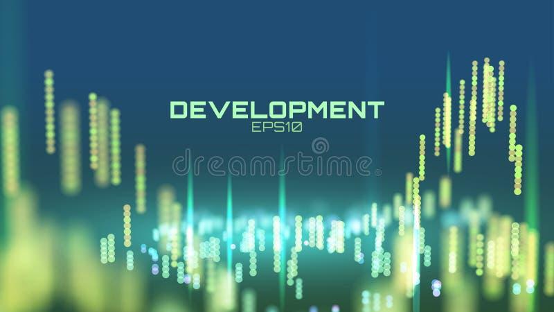 Processus de développement abstrait de logiciel fond de recherches de présentation d'ingénierie illustration stock