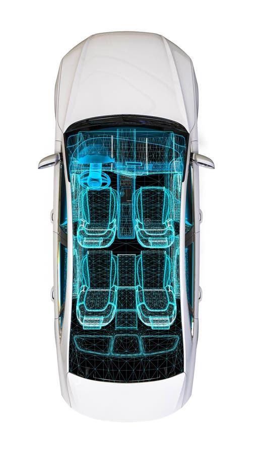 Processus de développement d'intérieur de voiture illustration libre de droits