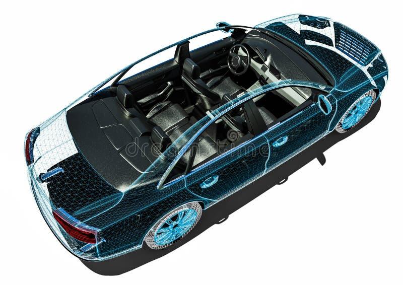 Processus de développement d'intérieur de voiture illustration de vecteur