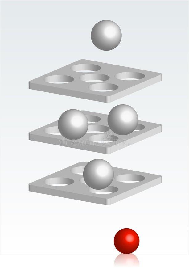 Processus de sélection illustration stock
