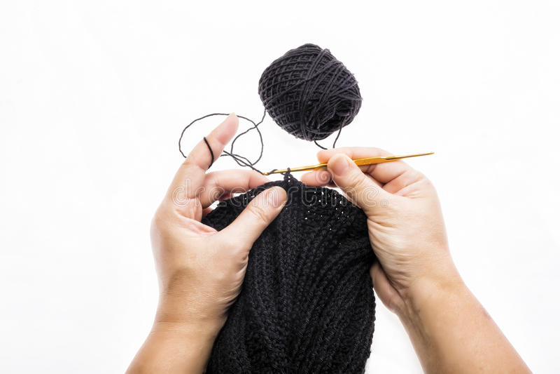Processus du tricotage image libre de droits