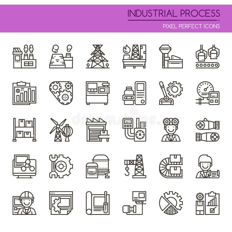 Processus industriel illustration de vecteur