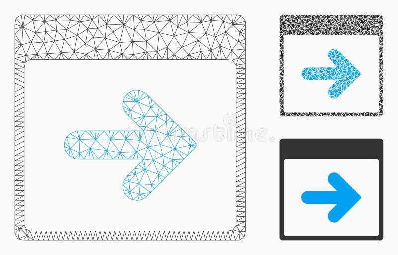 Prochain vecteur Mesh Network Model de jour civil et icône de mosaïque de triangle illustration de vecteur