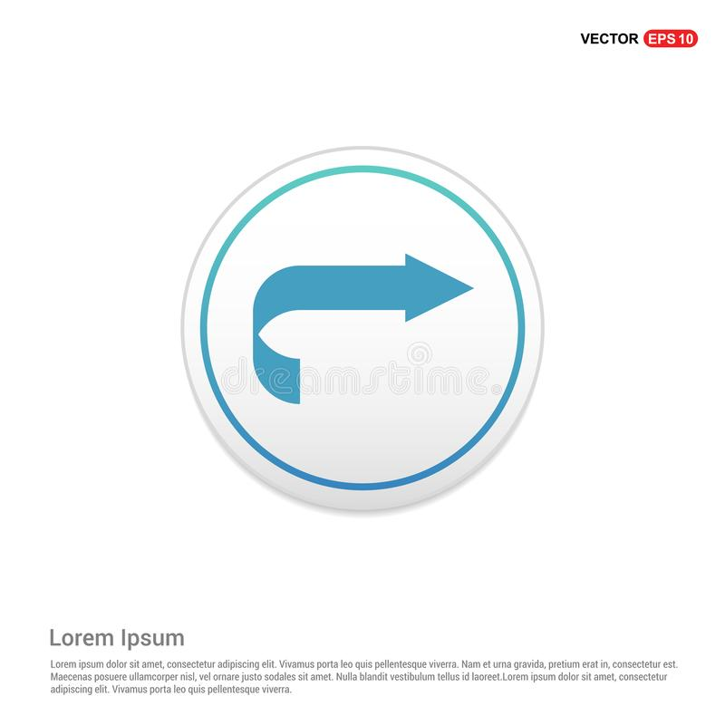 Prochaine icône de flèche - bouton blanc de cercle illustration stock