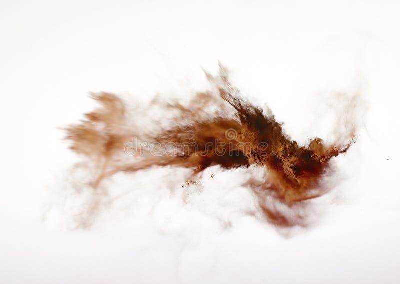 Prochowy wybuch odizolowywający na białym tle obrazy stock