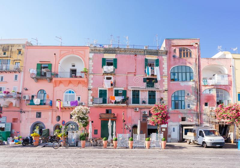 Procida海岛,意大利 免版税库存图片