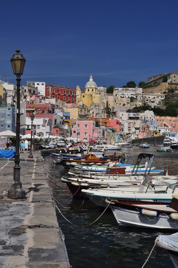 Procida, μαρίνα Corricella, Νάπολη - Napoli - Ιταλία στοκ φωτογραφία με δικαίωμα ελεύθερης χρήσης
