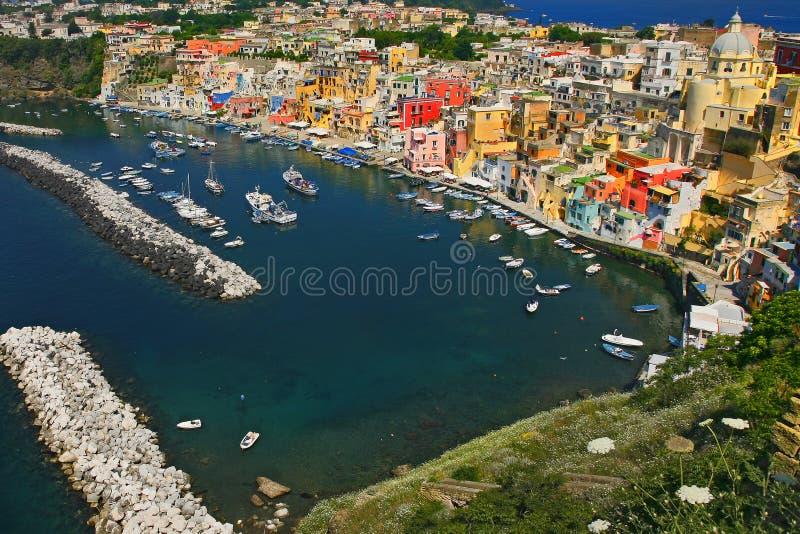 procida της Νάπολης corricella στοκ φωτογραφία