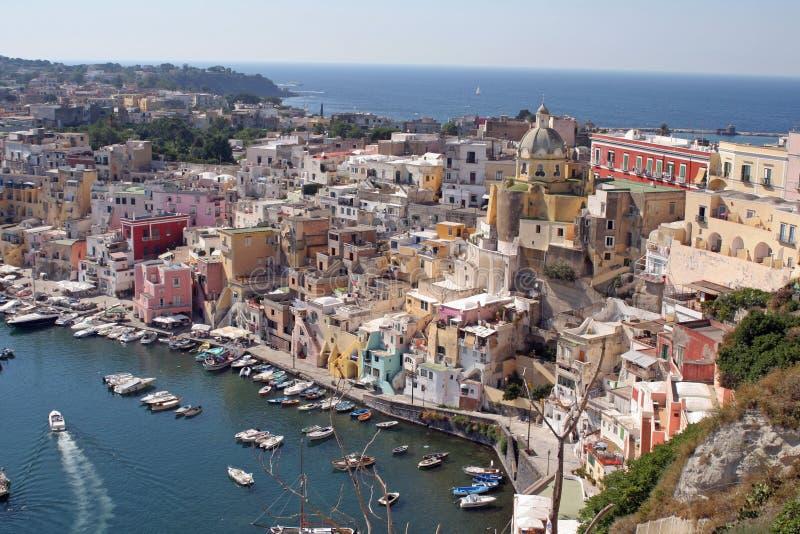 Procida dell'isola, Napoli, esso fotografie stock libere da diritti