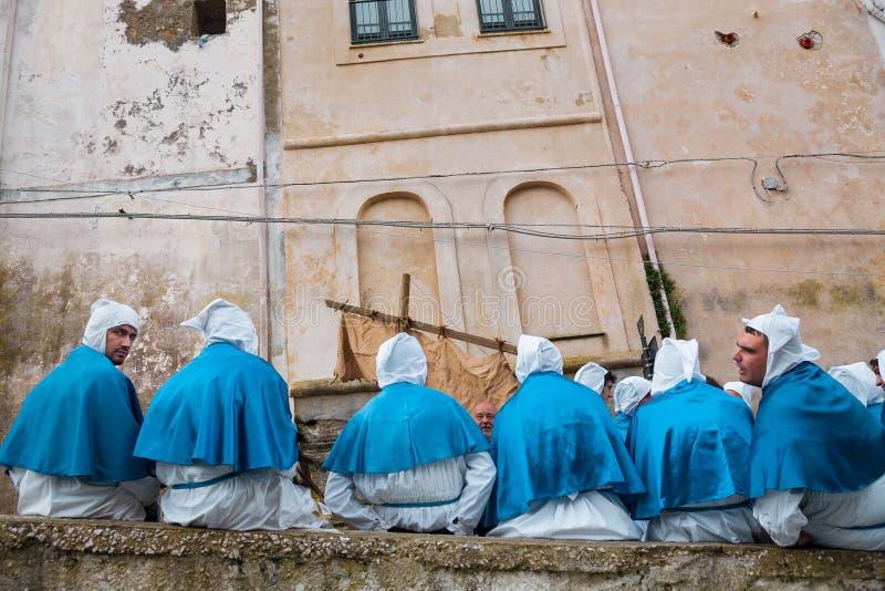 PROCIDA ITALIEN, BERÖMMAR FÖR PÅSK` S fotografering för bildbyråer
