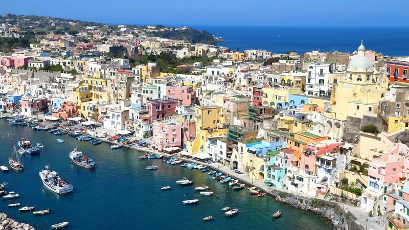 Procida, Nápoles, Italia imagenes de archivo