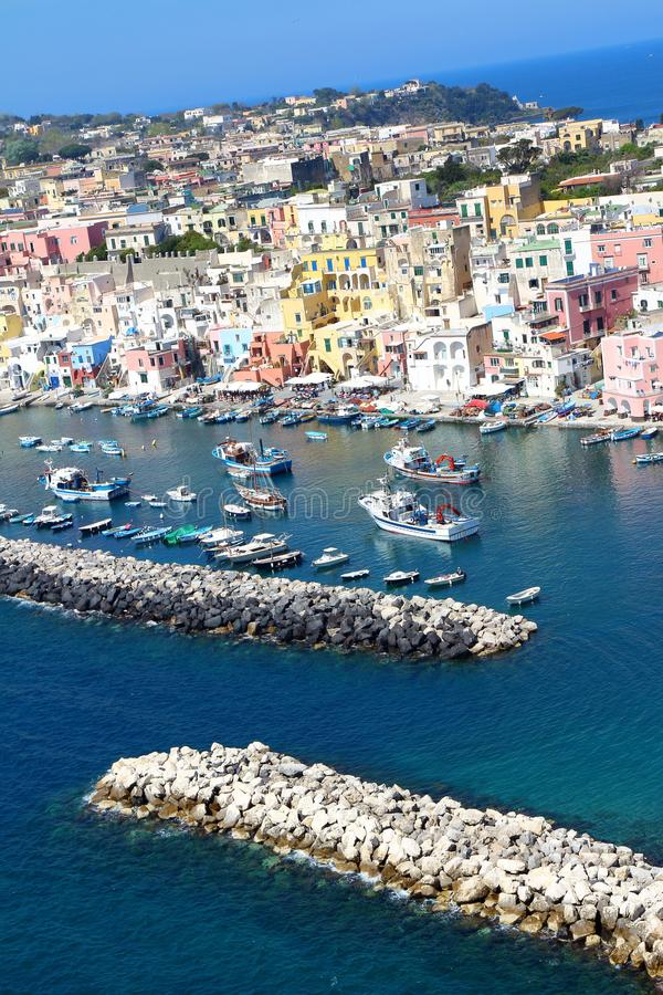 Procida, Nápoles, Italia foto de archivo