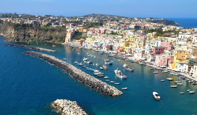Procida, Nápoles, Italia fotografía de archivo