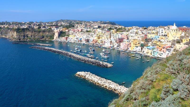 Procida, Nápoles, Italia fotos de archivo
