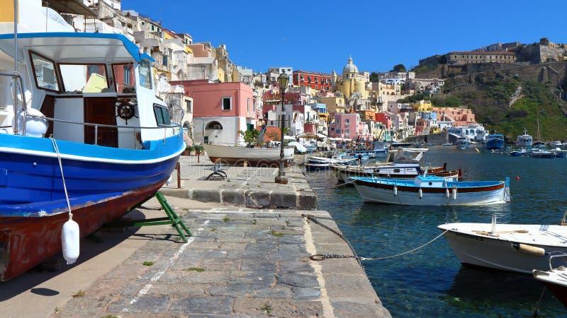Procida, Nápoles, Italia fotos de archivo libres de regalías