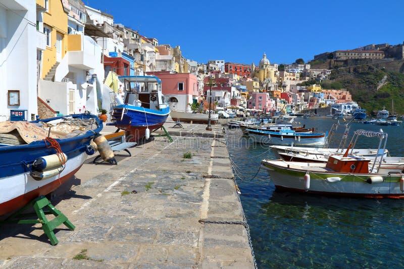 Procida, Naples, Italie images libres de droits