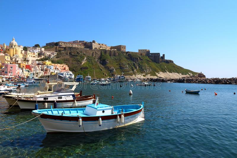 Procida, Naples, Italy stock photo