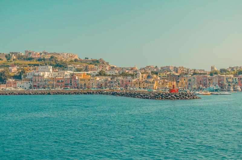 Procida is one of the Flegrean Islands off the coast of Naples in southern Italy royalty free stock photos