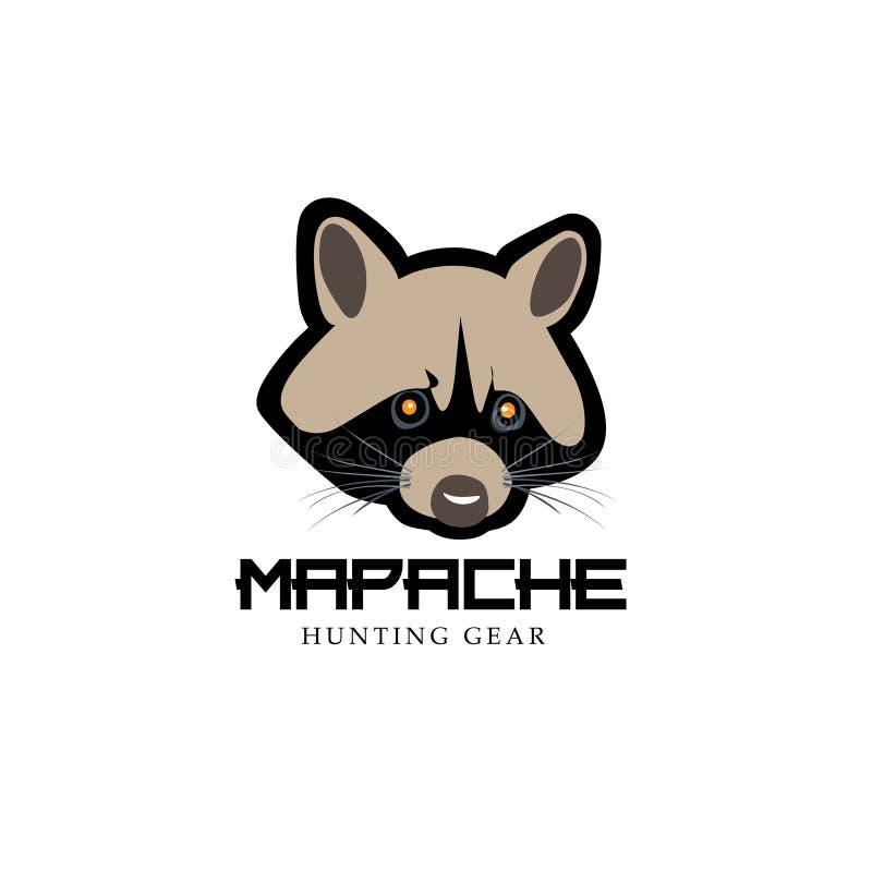 Procione di sguardo moderno - Mapache- come progettazione dell'icona royalty illustrazione gratis