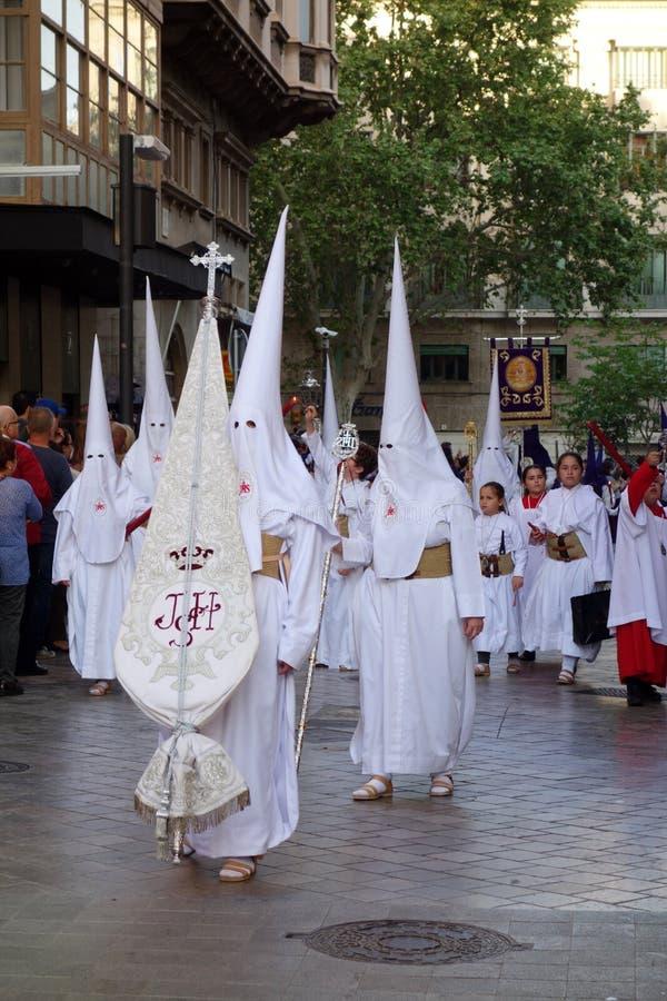 Procissão da Páscoa em Palma de Mallorca imagens de stock