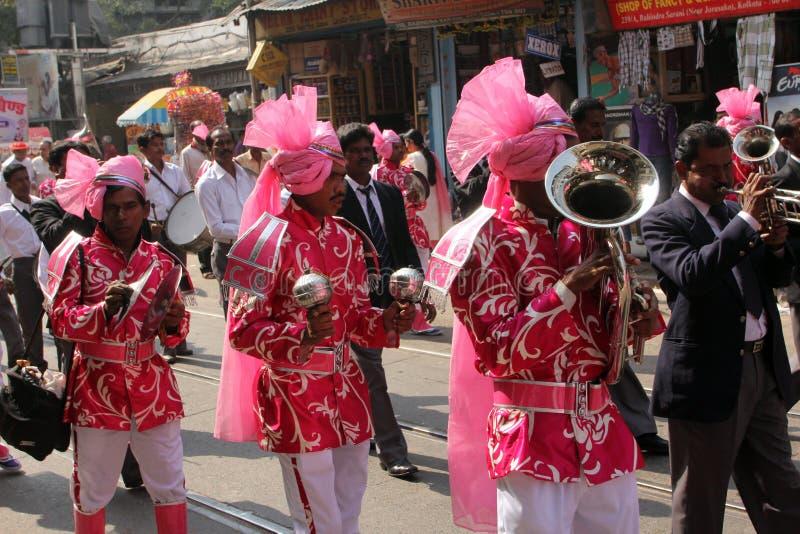 Procissão Jain anual de Digamber em Kolkata fotos de stock royalty free